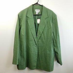 NWT Newport News Green Long Blazer Jacket Plus 20W